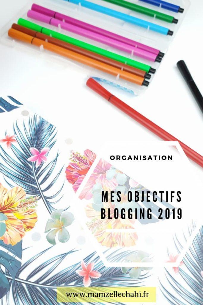 Objectifs blog 2019